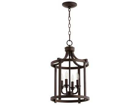 Quorum International Lancaster Oiled Bronze Four-Light 13'' Wide Mini Chandelier