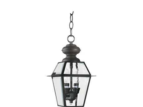 Quorum International Duvall Bronze Two-Lights Outdoor Hanging Lantern