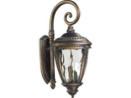 Quorum International Pemberton Bronze Patina Three-Lights Outdoor Wall Lantern