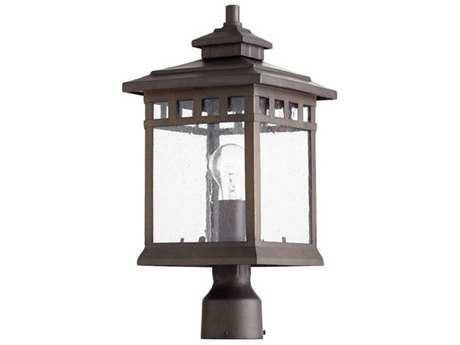Quorum International Denmark Oiled Bronze Outdoor Post Light