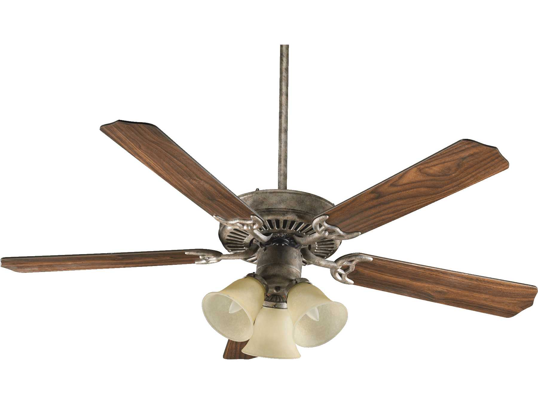 Mystic silver and company - Quorum International Mystic Silver 52 Inch Indoor Ceiling Fan With Light