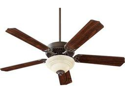 Quorum International Oiled Bronze 52 Inch Indoor Ceiling Fan with Light