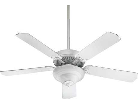 Quorum International White 52 Inch Indoor Ceiling Fan with Light
