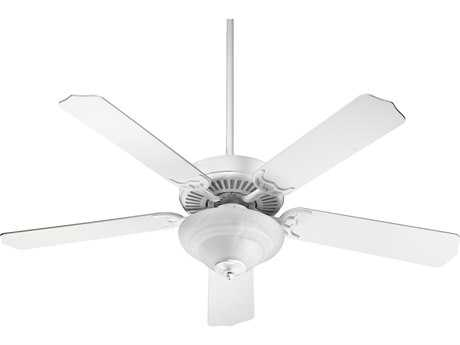 Quorum International Studio White 52 Inch Indoor Ceiling Fan with Light