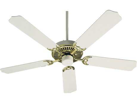 Quorum International Polished Brass with White 52 Inch Indoor Ceiling Fan