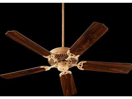 Quorum International Capri I Vintage Gold Leaf Indoor Ceiling Fan