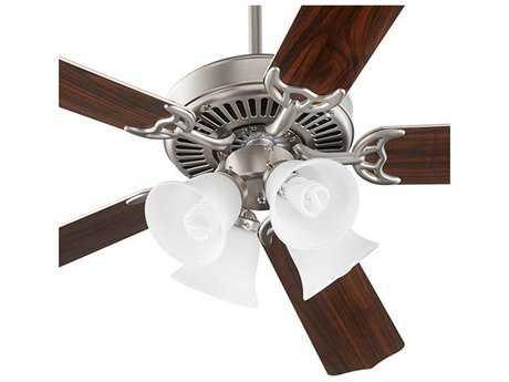 Quorum International Capri V Satin Nickel Indoor Ceiling Fan