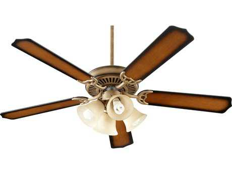 Quorum International Antique Flemish 52 Inch Indoor Ceiling Fan with Light