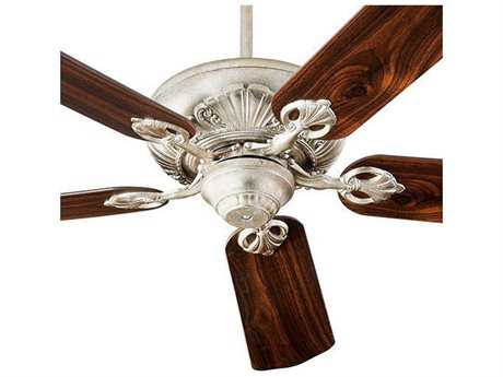 Quorum International Chateaux Aged Silver Leaf Indoor Ceiling Fan