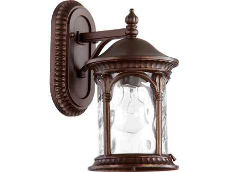 Quorum International Riviera Oiled Bronze Outdoor Wall Lantern
