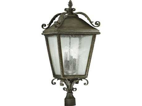 Quorum International Rochelle Etruscan Sienna Four-Lights Outdoor Post Light