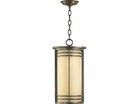 Quorum International Larson Oiled Bronze Outdoor Hanging Light