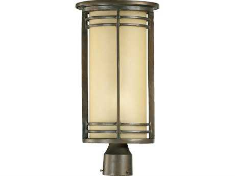 Quorum International Larson Oiled Bronze Outdoor Post Light