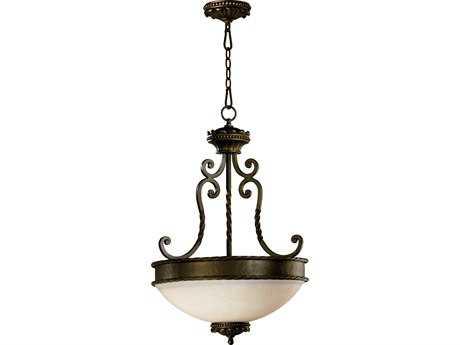 Quorum International Alameda Oiled Bronze Three-Lights Pendant Light