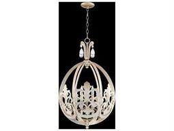 Quorum International Charlton Aged Silver Leaf Six-Light Pendant Light