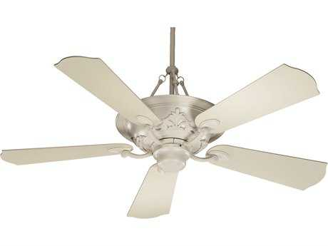 Quorum International Salon Antique White Three-Light 56'' Wide Indoor Ceiling Fan