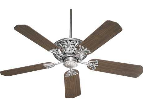 Quorum International Antique Silver Indoor Ceiling Fan