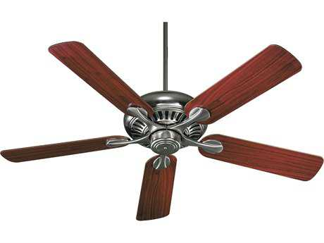 Quorum International Pinnacle Satin Nickel with Dark Oak & Rosewood 52 Inch Indoor Ceiling Fan