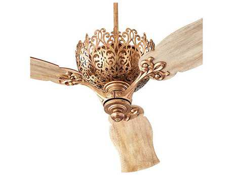 Quorum International Le Monde Vintage Gold Indoor Ceiling Fan