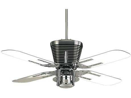 Quorum International Retro Chrome 52 Inch Indoor Ceiling Fan with Light