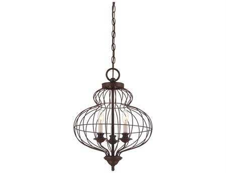 Quoizel Laila Rustic Antique Bronze Three-Light 15'' Wide Mini Chandelier