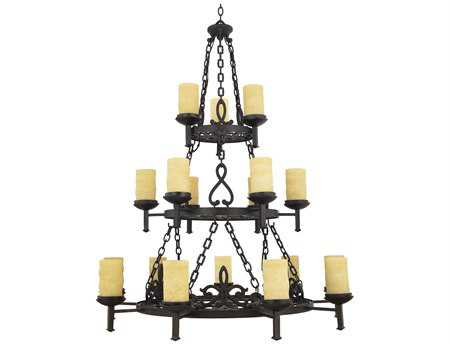 Quoizel La Parra Dark Bronze 18-Light 47'' Wide Grand Chandelier