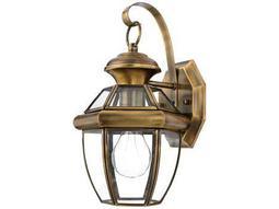Quoizel Newbury Umber-Rubbed Brass Outdoor Wall Light