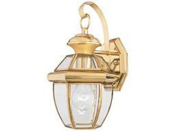 Quoizel Newbury Classic Polished Brass Outdoor Wall Light