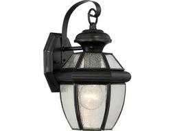 Quoizel Newbury Mystic Black 6.75'' Wide Outdoor Wall Sconce