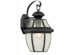 Quoizel Newbury Mystic Black 7.75'' Wide Outdoor Wall Sconce