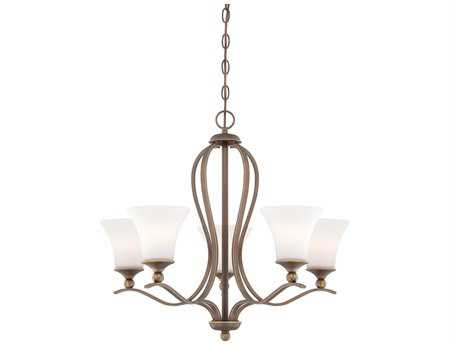 Quoizel Sophia Palladian Bronze Five-Light 26'' Wide Chandelier