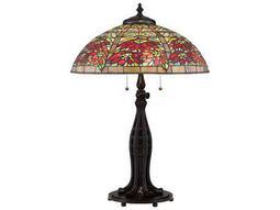 Quoizel Tiffany Valiant Bronze Three-Light 23.5'' Wide Table Lamp