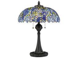 Quoizel Tiffany Vintage Bronze Three-Light 21'' Wide Table Lamp
