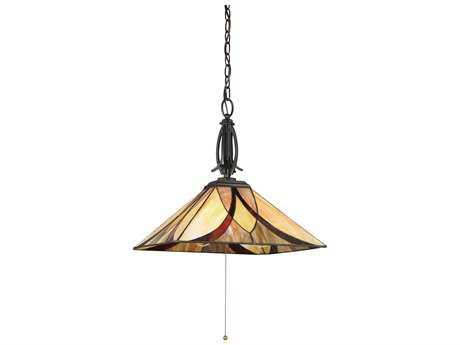 Quoizel Asheville Valiant Bronze 17'' Wide Three-Light Pendant Ceiling Light