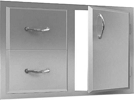 RCS Grills Agape Stainless Double Drawer & Door Combo