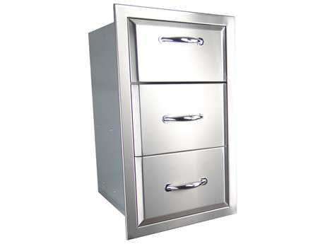 RCS Grills Agape Stainless Paper Towel Holder & Tw -Drawer Combo - Fully Enclosed
