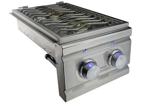 RCS Cutlass Pro Double Side Burner Slide-In with LED Lights
