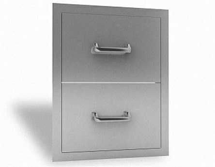 RCS Grills Stainless Double Drawer