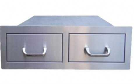 RCS Grills Stainless Horizontal Double Drawer