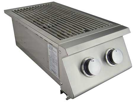 RCS Grills Premier Series Natural Gas Double Side Burner - Slide-In