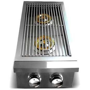 RCS Grills Premier Series Stainless Propane Double Side Burner - Slide-In