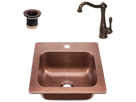 RCS Grills Copper 15''W x 15''D Undermount Sink & Faucet