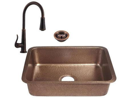 RCS Grills Copper 23''W x 17''D Undermount Sink & Pull-Down Faucet