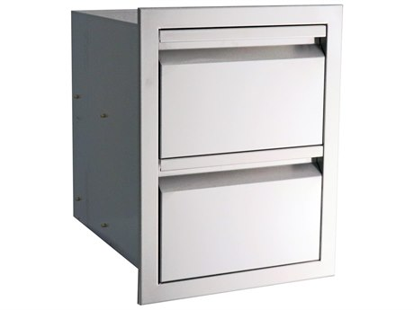 RCS Grills Valiant 17 Inch Stainless Fully Enclosed Double Drawer