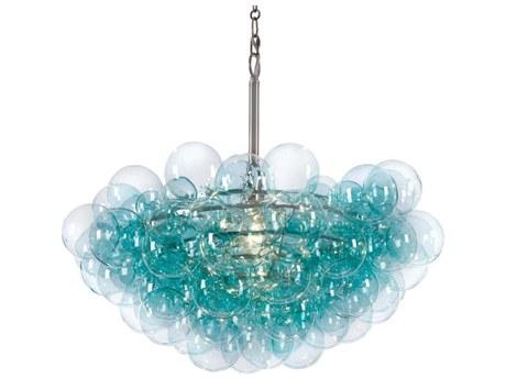 Regina Andrew Bubbles Aqua with Polished Nickel 28'' Wide Pendant Light