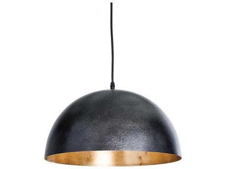 Regina Andrew Sigmund Black & Gold 15'' Wide Pendant Light REG161090BLK