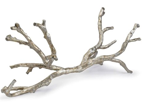 Regina Andrew Ambered Silver Leaf Metal Branch Sculpture