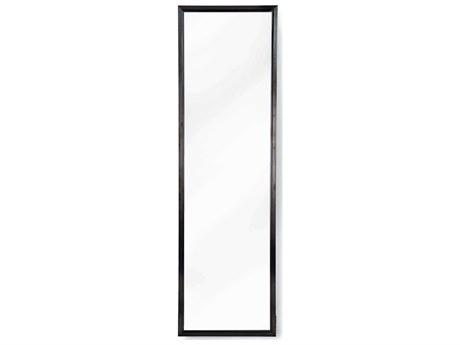 Regina Andrew Polished Black 24''W x 80''H Rectangular Floor Mirror