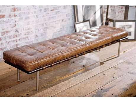 Regina Andrew Cigar Tufted Gallery Bench REG321007