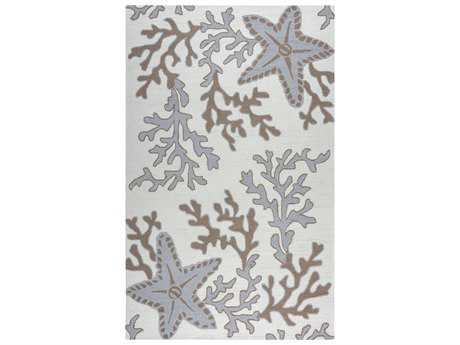 Rizzy Home Azzura Hill Rectangular Off White & Gray Area Rug